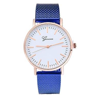 Darringls_Reloj Geneva,Reloj Mujer Reloj de Manera de Acero Inoxidable de los Relojes de Pulsera de Cuarzo de Banda: Amazon.es: Ropa y accesorios