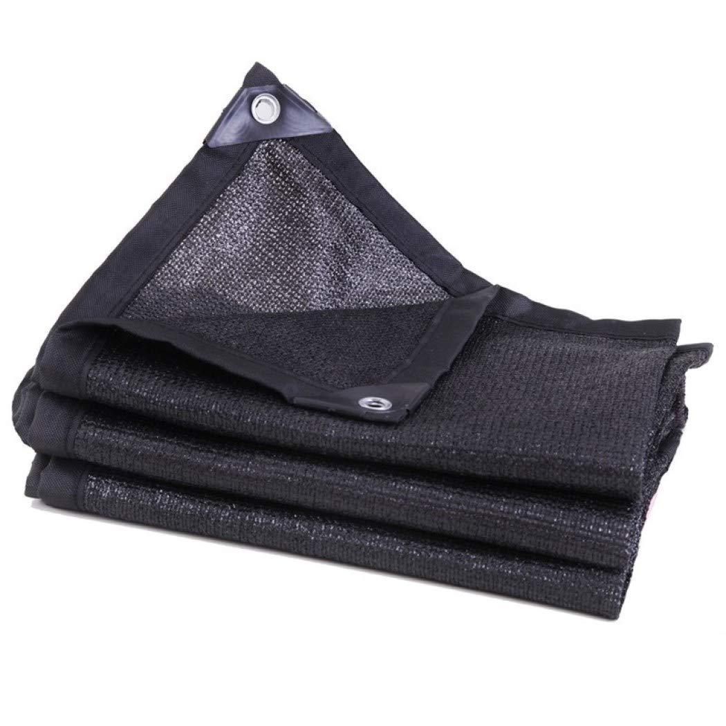 80%バイザー布 ワッシャー付き、丈夫 軽量 遮光ネットパーゴラカバーキャノピー用シェードパネル,Black_5x8m/15x24ft B07SB5RCR1 Black 5x8m/15x24ft