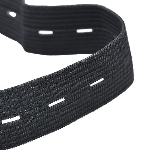 Souarts Elastique Plat avec Boutonnière Noir Couture Accessoire 20mm 10m  Hellocrafts 67b1741fd0f5
