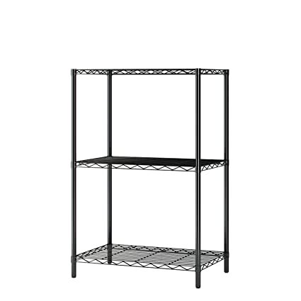 Super Homebi Wire Shelving Unit 3 Shelf Metal Storage Rack Durable Organizer With 3 Tiers Wire Shelf In Black 21Wx14Dx32H Download Free Architecture Designs Embacsunscenecom