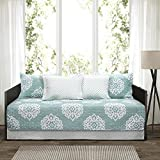 Lush Decor 6 Piece Sophie Daybed Cover Set, 39'' x 75'', Blue