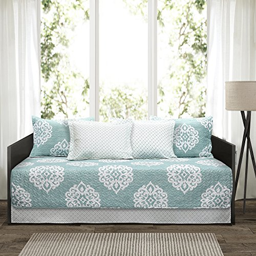 Lush Decor 6 Piece Sophie Daybed Cover Set, 39'' x 75'', Blue by Lush Decor