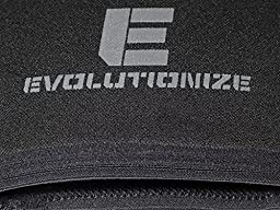 Performance 7MM Knee Sleeves for Powerlifting, Bodybuilding, Weight Lifting - Professional Quality & Ultra Heavy Duty (Pair) by Evolutionize,Black Large (36.5-39 CM)