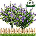Artificial Flowers Outdoor UV Resistant Plants Shrubs Boxwood Plastic Leaves Fake Bushes Greenery for Window Box Home Patio Yard Indoor Garden Light Office Wedding Decor Wholesale-4 PACK