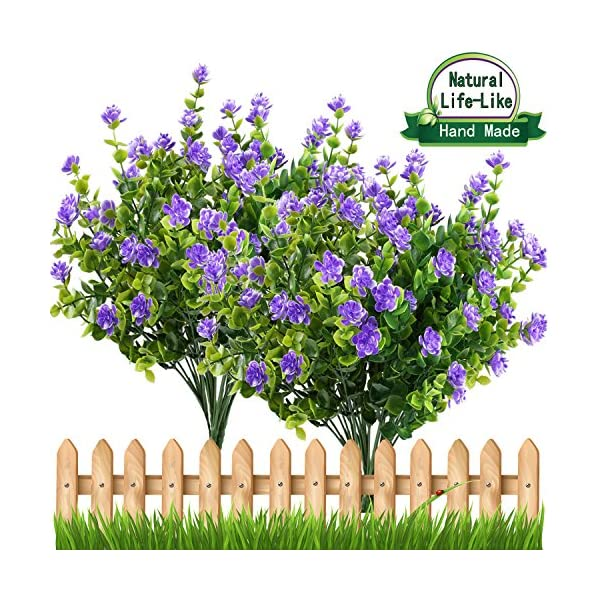 E-HAND-Artificial-Fake-FlowersFaux-Yellow-Daffodils-Outdoor-Greenery-Shrubs-Plants-Plastic-Bushes-Window-Box-UV-Resistant-4-Branches-Fence-Indoor-Outside-Hanging-Planter-Wedding-Cemetery-Dcor