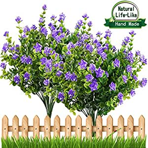 Artificial Flowers Outdoor UV Resistant Plants Shrubs Boxwood Plastic  Leaves Fake Bushes Greenery For Window Box
