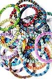 Wholesale 5 Dozen (60 Pieces) Bracelets Random Mix of Nepal Glass Beaded Bracelets (Roll On) Unique One of a Kind