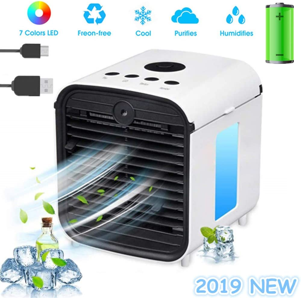 Nifogo Air Mini Cooler Aire Acondicionado Portátil, 3 en 1 ...