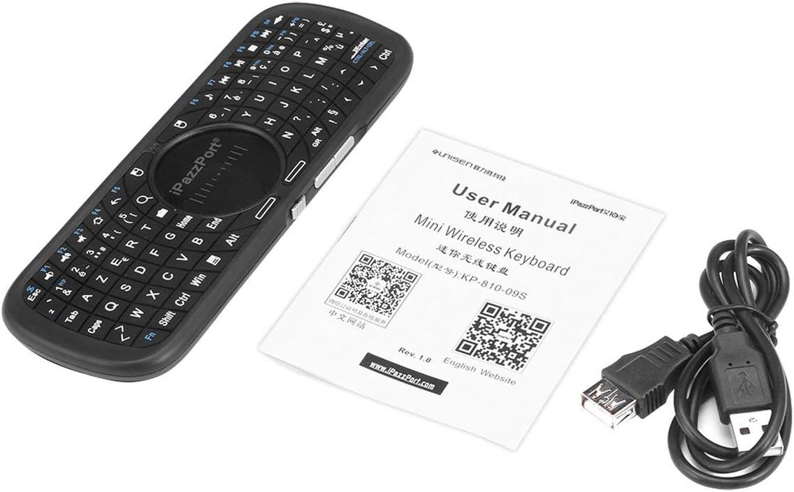 MXECO iPazzPort Mini Teclado inalámbrico con Panel táctil Combo de Teclado y Mouse inalámbricos para Android TV Box PC y HTPC