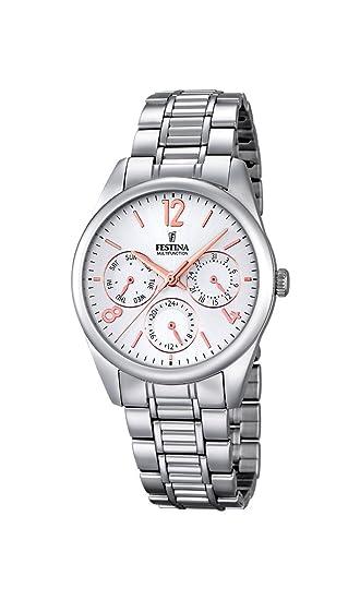 Festina F16869/1 - Reloj de pulsera Mujer, Acero inoxidable, color Plateado: Festina: Amazon.es: Relojes