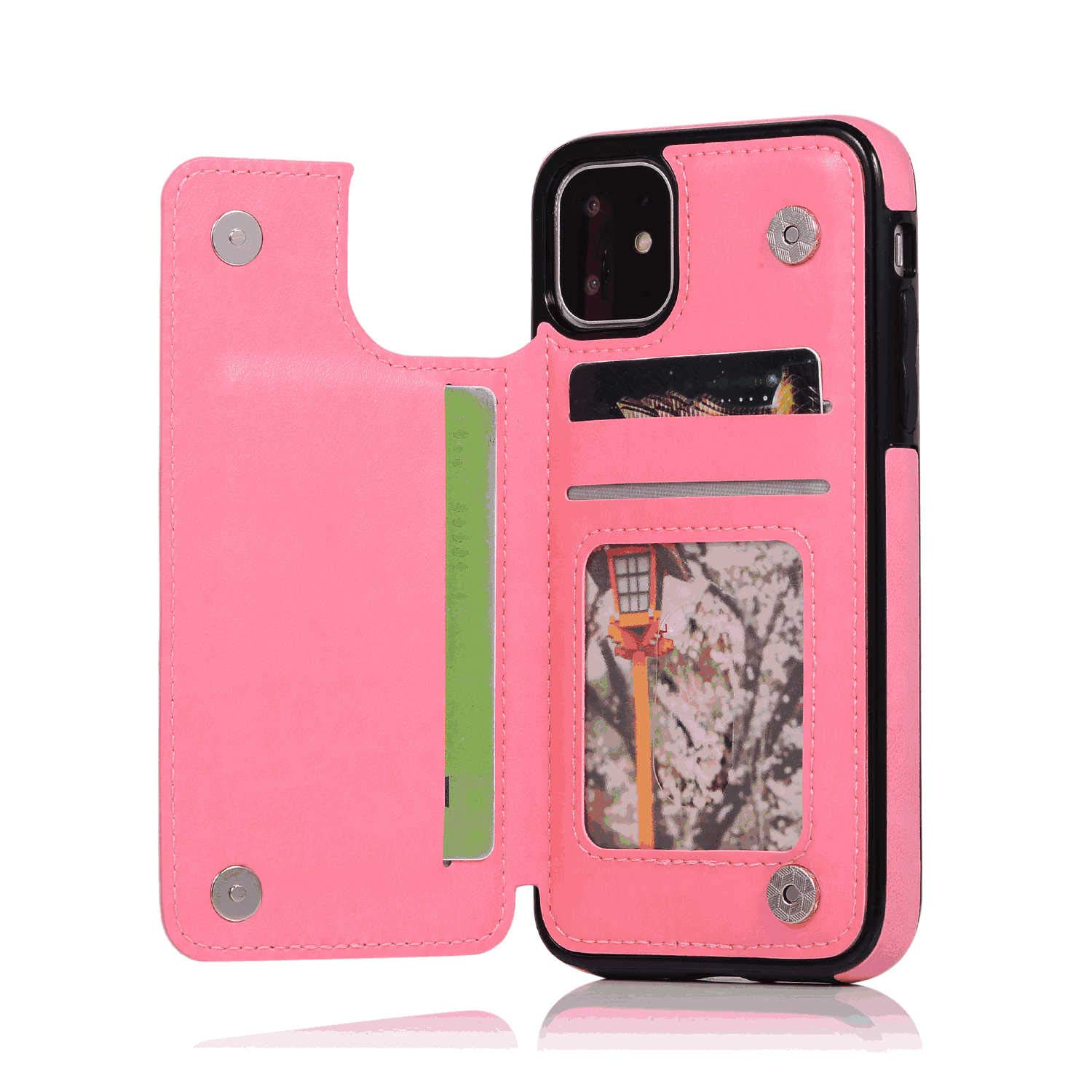 Cover for Leather Wallet Cover Card Holders Kickstand Extra-Protective Business Flip Cover iPhone 8 Flip Case
