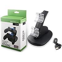 Skins4u© Playstation 4 PS4 & Xbox One Controller şarj istasyonu, yatay stant, ikiz çift ikili USB 2 denetleyici için…