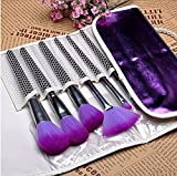 JD Million shop Professional 16Pcs Purple Makeup Brushes Cosmetic Brush Set with Leather Case, Drop Shipping