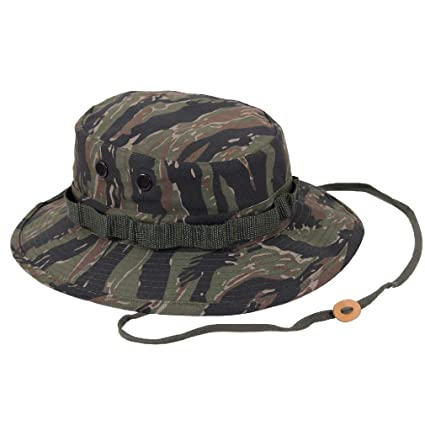 Image Unavailable. Image not available for. Color  BlackC Sport Wide Brim  Boonie Hat Tiger Stripe Camouflage Military 718548b4d005