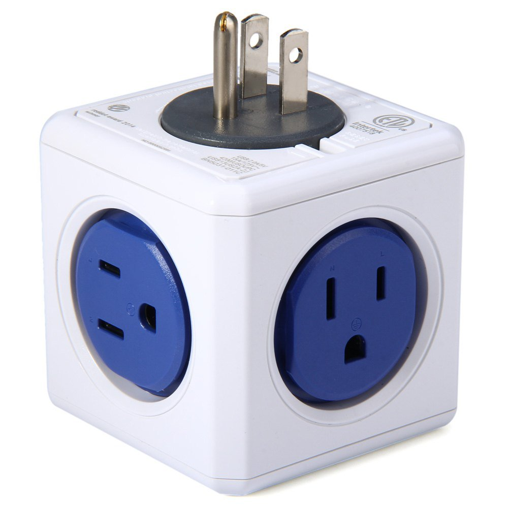 Brand New Overload Protector Multi-outlet Extended Power Cube Socket Strip US Plug 4 Outlets 2 USB Ports Charger Adapter Converter for Tablet iPad Smartphones Office Home Travel Use photoloving-ca