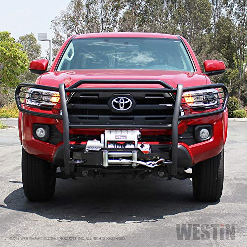 Brush Guard Mount - Westin Automotive Products Westin 40-93885 Sportsman Winch Mount Grille Guard - Black