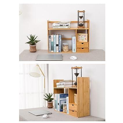 LTJTVFXQ Shelf Desktop Bookshelf Rack Bookcase Simple Student Storage Child Desk Mini