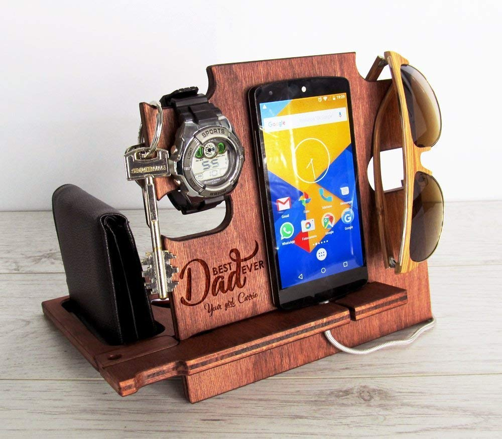 Father's Day Gift, Docking Station, Gift for Dad, Christmas Gift, Anniversary Gift, Gift for Husband, Gift for Him, Gift for Men, Personalized Gift Father's Day Gift