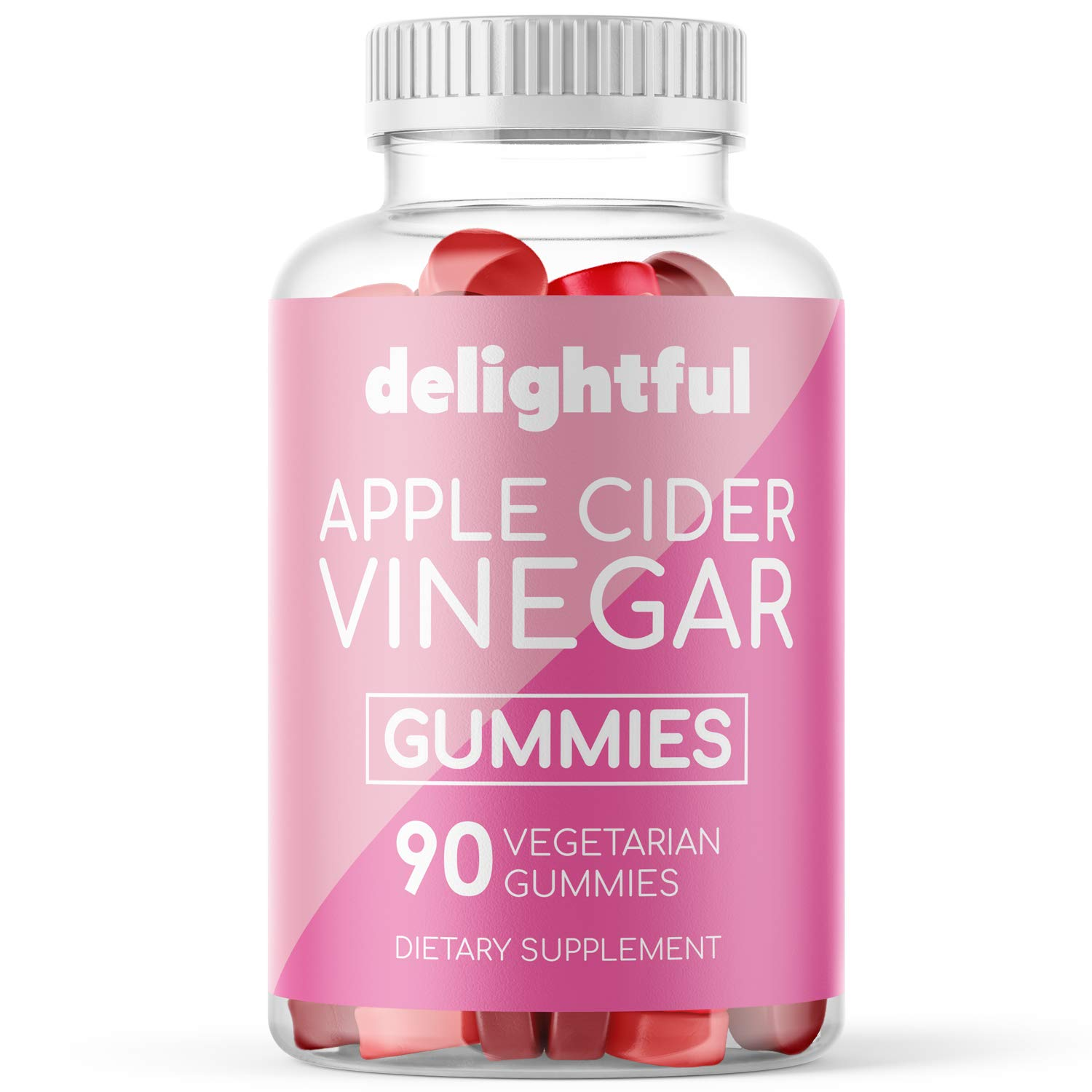 Organic Apple Cider Vinegar Gummies with The Mother - Gluten Free, Vegetarian ACV with Ginger Extract for Detox, Weight Loss, and Cleanse - 90 Count ACV Gummy Alternative to Pills, Capsules, Tablets