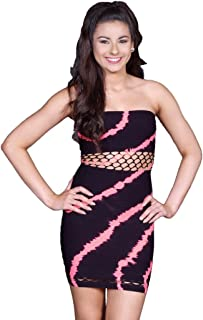 product image for Kurve Womens Juniors Twist Tie Dye Strapless Dress