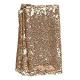 Ling's moment 12 x 108 Inch Rose Gold Sequin Table Runner For Wedding Party Baby Shower Event