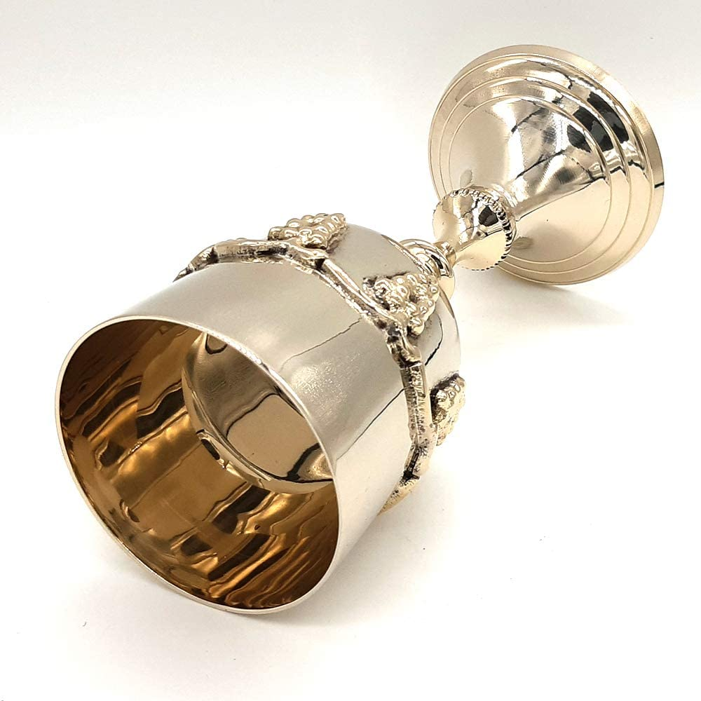 Replicartz Brass 7 Inch Grape Harvest Wine Goblet Chalices Set of 1
