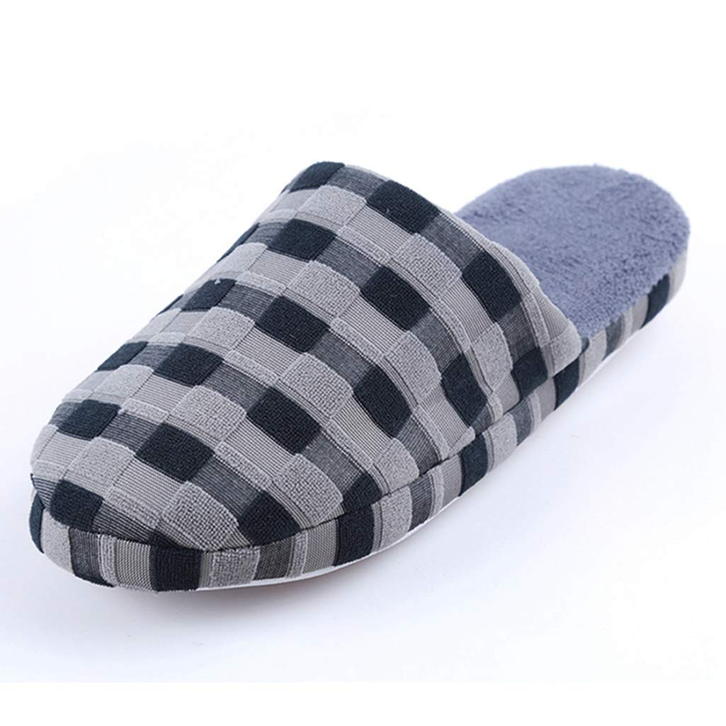 FAY WATERS Men Womens Comfort Warm Flats Slippers Plush Lining Slip-on House Shoes for Indoor Use