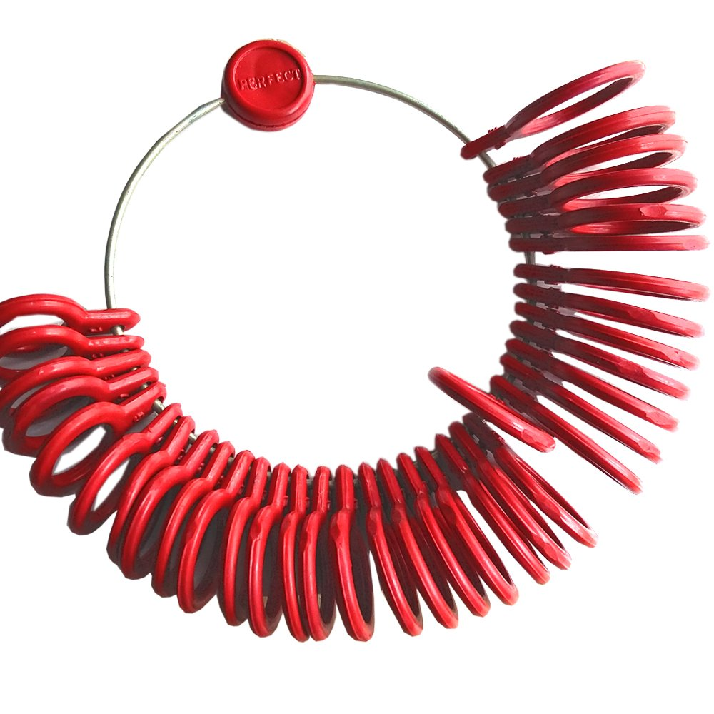 Anelliera in plastica, set per trovare la propria misura di anello. Misuratore dito