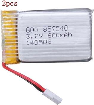 ELEGIANT Batería para Drone Syma X5c X5 3.7V 600mAh 25C Lipo Mejorado 2pcs: Amazon.es: Juguetes y juegos