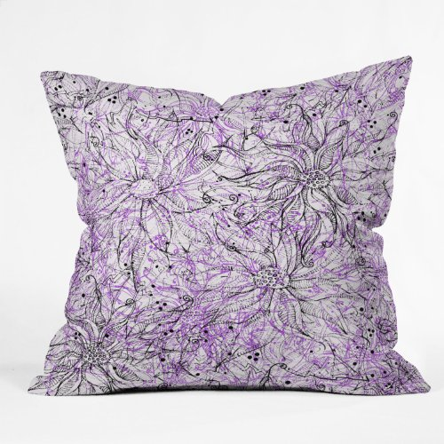 DENY Designs Lisa Argyropoulos Angelica Purple Throw Pillow
