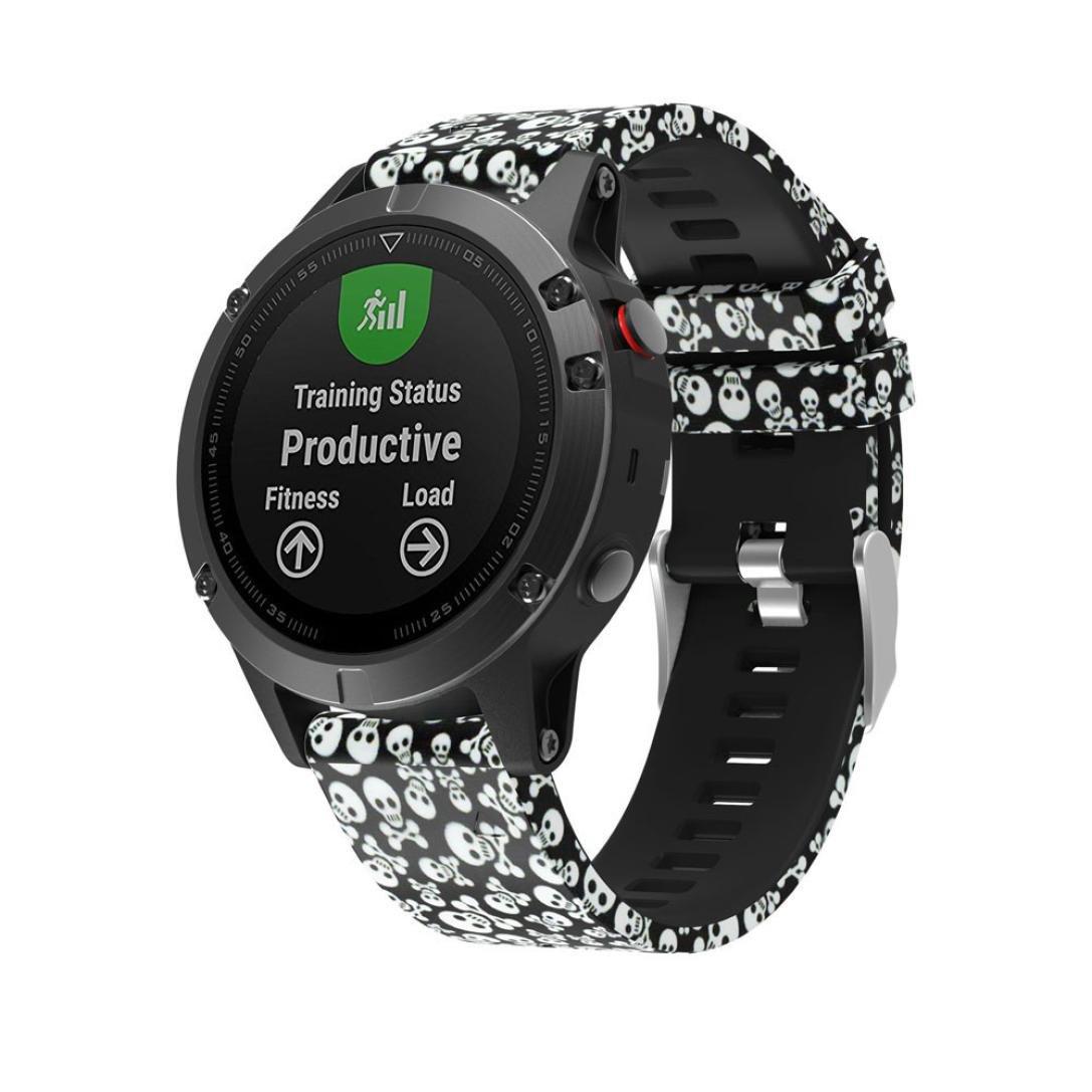 Newest交換Silicagelクイックインストールソフト腕時計バンドストラップfor Garmin Fenix 5 C C C B074X9L5KB