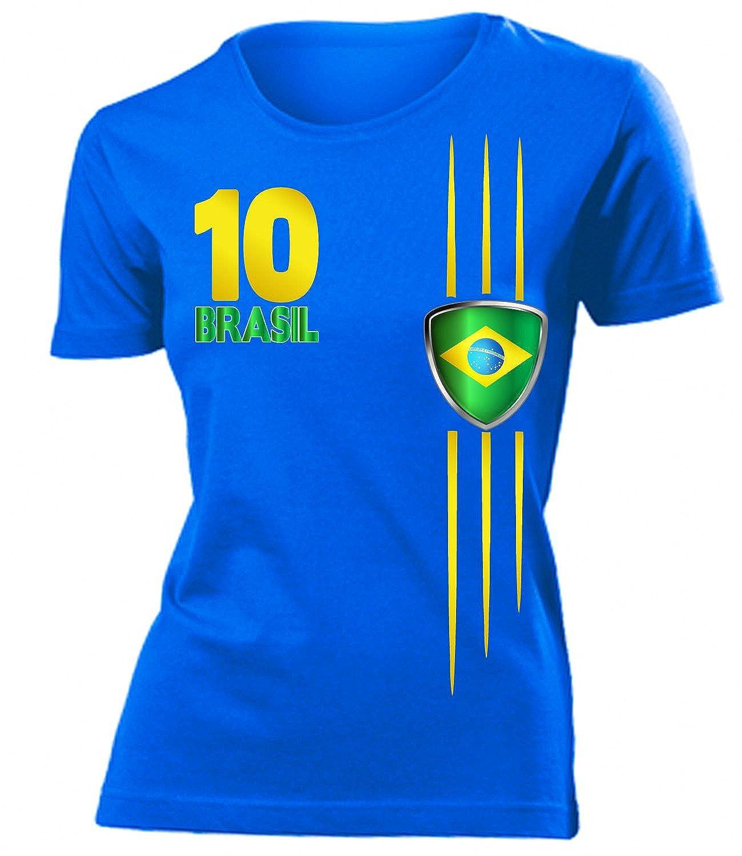 love-all-my-shirts 9 verschiedene Brasilien FANSHIRTS Motive auswählbar – Damen T-Shirt Gr.S bis XXL – Golebros