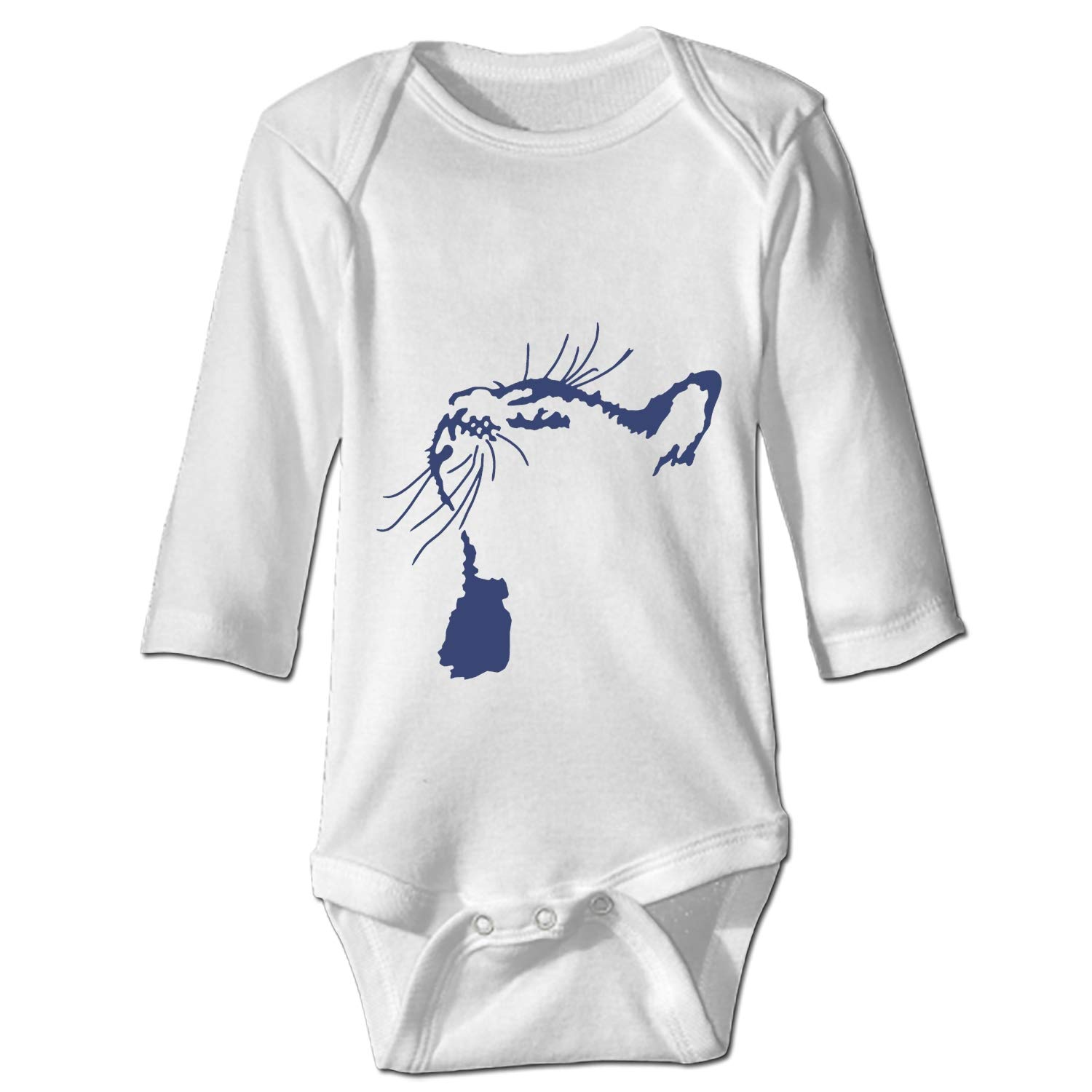 Baby Funny Cat Bodysuits Rompers Outfits Casual Clothes,Long Sleeve