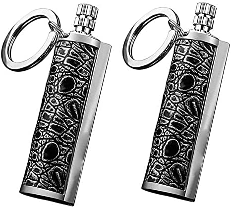 Fuel Not Included Fire Starters for Camping,Dra-gon/'s Breath Immortal Lighter-Metal Keychain Flint Match Stick Kerosene Refillable Lighter for Emergency Survival Mountaineering Camping Hiking