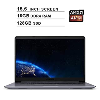 Asus 2019 VivoBook F510QA 15.6 Inch FHD Laptop Computer (AMD Quad Core A12-9720P up to 3.6 GHz, 16GB RAM, 128GB SSD, AMD Radeon R7, Bluetooth, WiFi, HDMI, Windows 10)