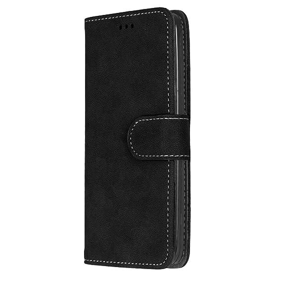 Uposao Compatibile con Samsung Galaxy A5 2016 Custodia Semplice Classica in Pelle PU Portafoglio Libro Flip Magnetica Cover con Funzione di Supporto Porta Cart,Blu