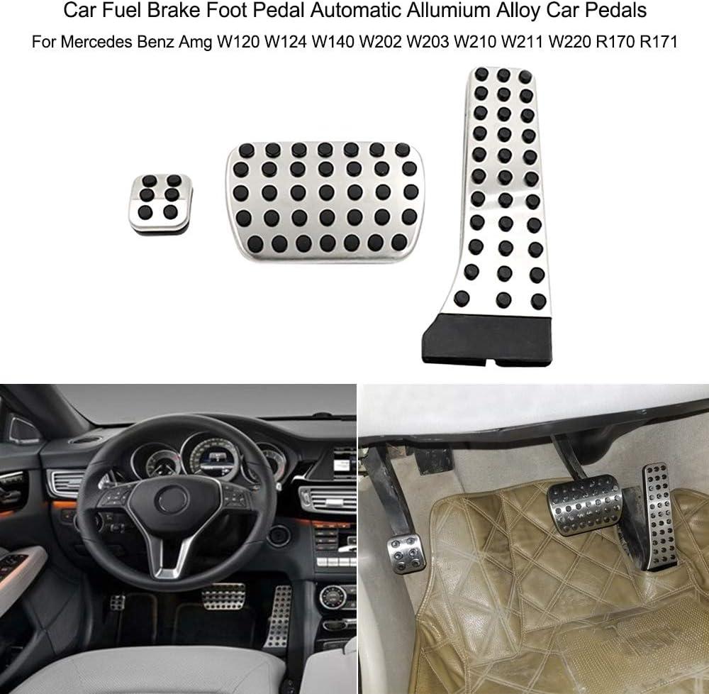 Festnight Car Fuel Brake Foot Pedal Automatic Allumium Alloy Car Pedals for Mercedes Benz Amg W120 W124 W140 W202 W203 W210 W211 W220 R170 R171
