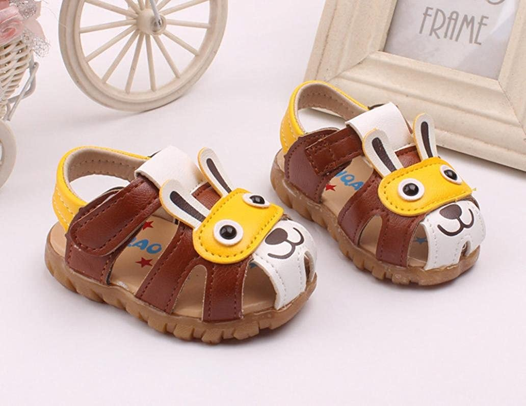 SHOBDW Boys Shoes Toddler Kids Baby Boys Summer Shoes with Flashing Lights Sandals Cute Cartoon