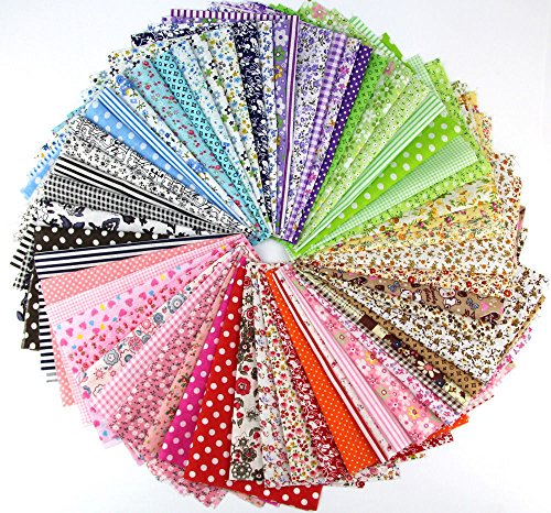 Cotton Fabric Bundle Squares Patchwork Cloth Tissue for DIY Sewing Scrapbooking Quilting, 4