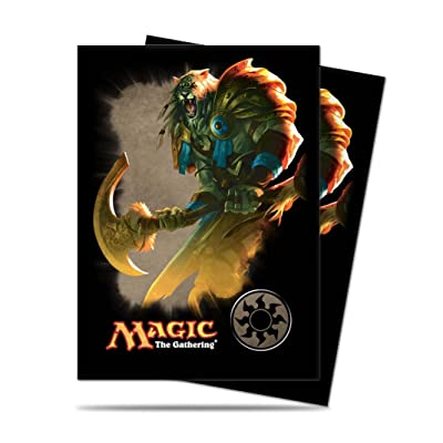 "Magic the Gathering Mana 4 Planeswalkers ""Ajani - White"" Deck Sleeves - 80 Ct: Toys & Games"