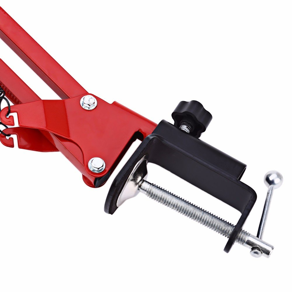 Desk Clamp Mount Suspension Boom Scissor Arm Tripod Stand Holder for Logitech Webcam C922 C930e C930 C920 C615-red