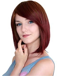 Kurzhaar Kurz-perücke Braun Mit Rotem Ton Volumen Lolita Bob Perücke Wig C1920 Perücken & Haarverlängerungen