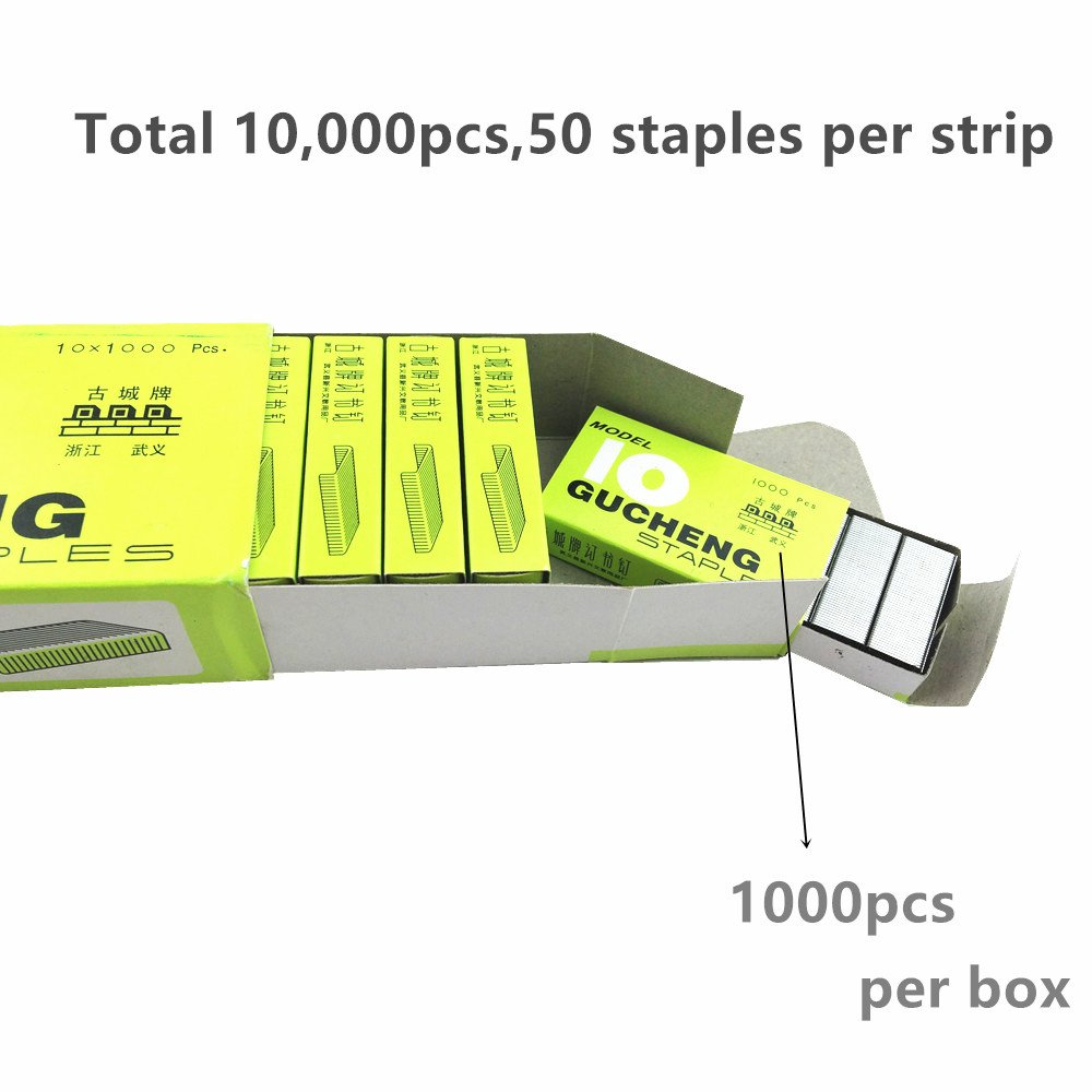 Y&Y Star No. 10 Mini Premium Staples for Staplers,10,000pcs (Total 10box,1,000 Per Box) (10,000pcs)