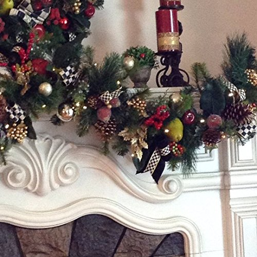 Delightful Designer Style 6 Foot Long Garland, Pre-Lit with LED Lights, Timer w/ Settings FREE SHIPPING