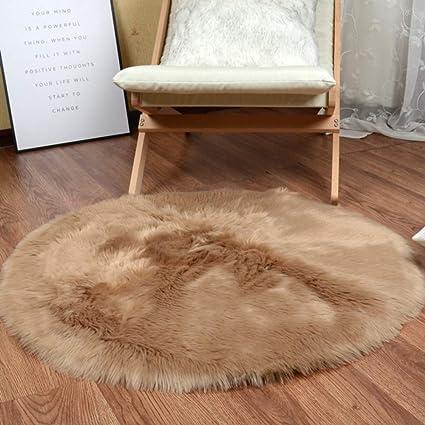 Amazon.com: JXwang Rugs Bedroom Faux Fur Sheepskin Rug Faux ...