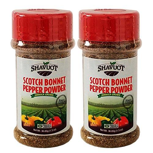 (Shavuot Jamaican Scotch Bonnet Pepper Powder 1.3oz (Pack of 2))