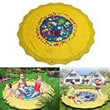 Wincom Dishman Water Sports 170CM Outdoor Inflatable Sprinkle Splash Mat Toddler Baby Kid Garden Water Spray Toys Play Pool