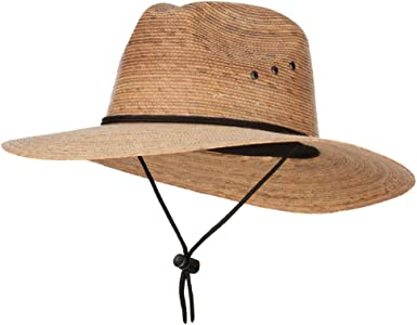 Mens Large Brim Fedora Hat Tan M