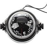 SODIAL(R) Kompass Kugelkompass Compass Bootskompass Schwarz KFZ Navigation mit LED Licht