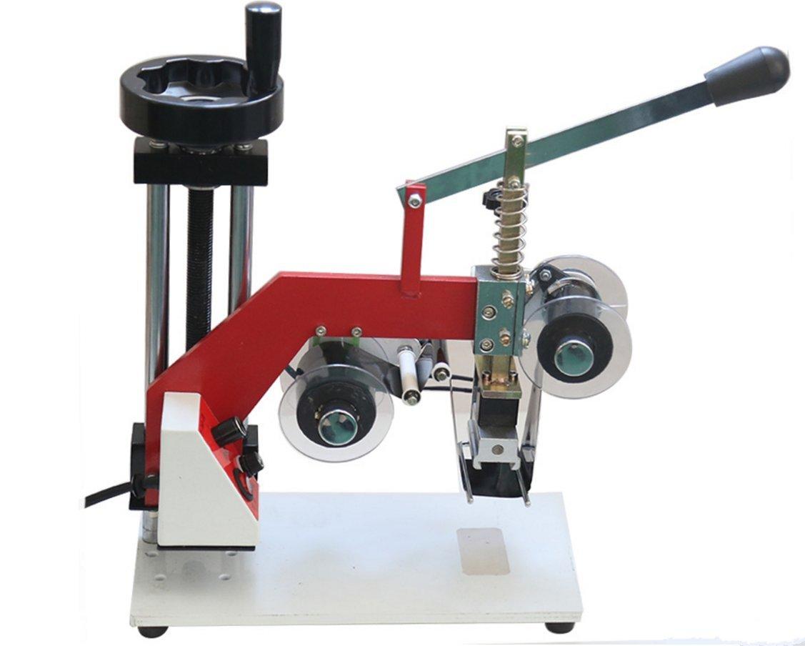 60W Manual hot stamping machine printing machine hot stamping tool thermal ribbon printer plastic bags Steel seal code 220V